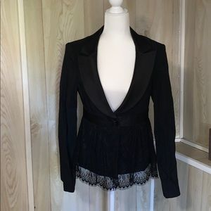 Nanette Lepore black lace blazer like new size 8